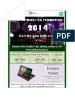 Receive Gift Vouchers for Placing Orders on HP Networking Products