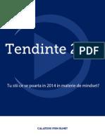 Calatorii Prin Sunet - Tendinte 2014 in materie de mindset