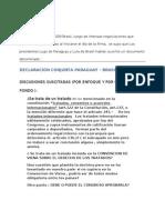 Texto Completo Declaracion Conjunta,25 de Julio 20092