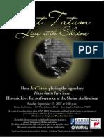Zenph - Art Tatum Live at the Shrine Sept 23 2007 Poster