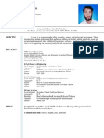 B.tech Civil Engineer and MBA Project Management Resume (CV)