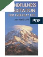 97291641 Mindfulness Meditation for Everyday Life Kabat Zinn Jon