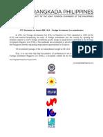 FIA - JFC Statement