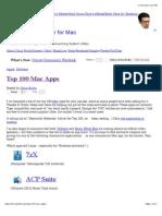 Top 100 Mac Apps -Chris Pirillo