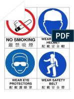 Site Safety Signs in English and Cantonese