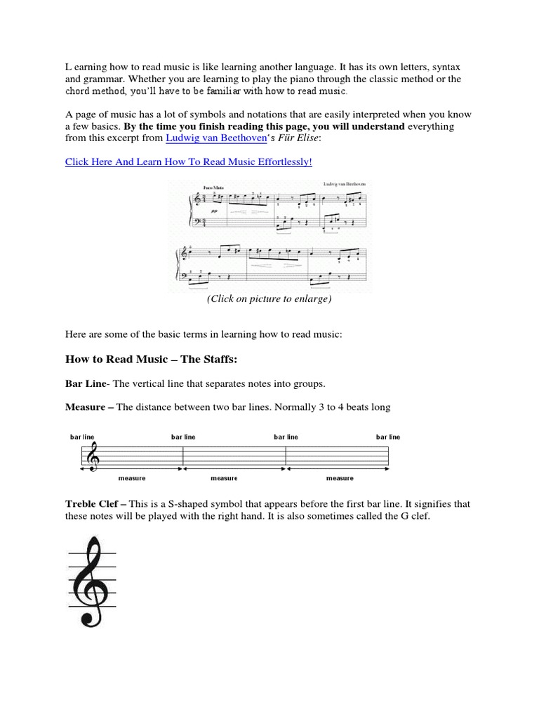 Learning How To Read Music Tempo Musical Notation