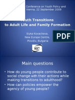 International Conference on Youth Policy and Research Vienna, 22 September