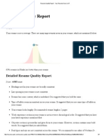 Resume Quality Report - Your Resume Score is 47
