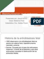 Aloinmunizacion en El Embarazo