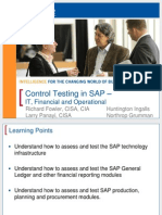 1913 Control Testing in SAP - IT, Financial, And Operational Auditing