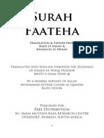 Surah Faateha Tafseer