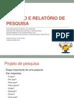 projeto e relatýrio de pesquisa