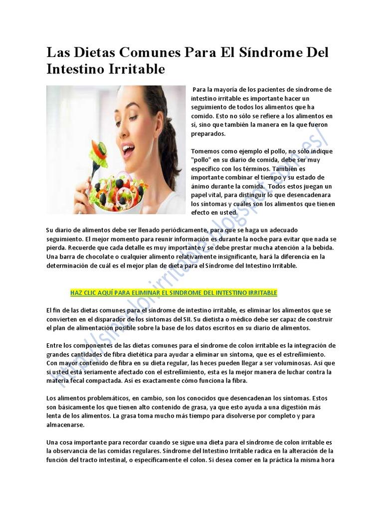 dieta intestinale lenta