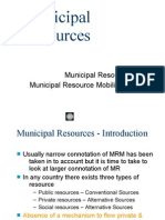 3. Municipal Resources- For CEPT Students