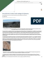 Descobertas rochas mais antigas do planeta — CH