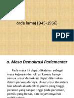 orde lama(1945-1966)