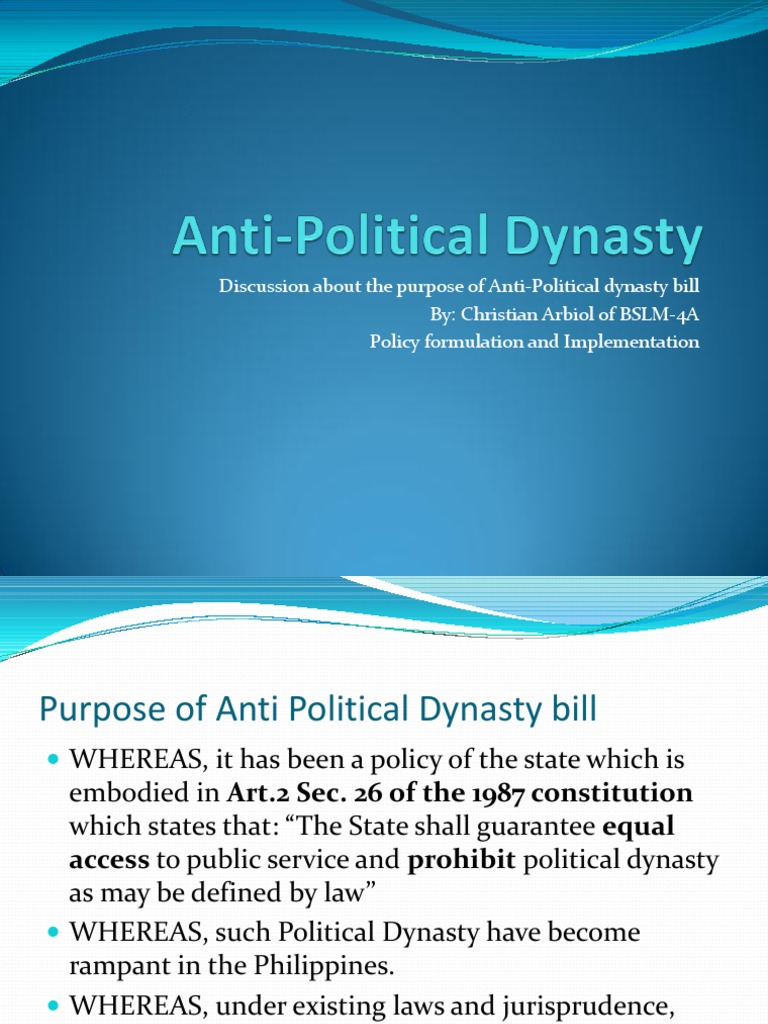 political dynasty definition