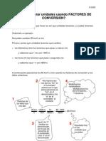 Cómo cambiar unidades usando FACTORES DE CONVERSIÓN