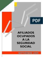 Afiliados a La Seguridad Social Sep 09