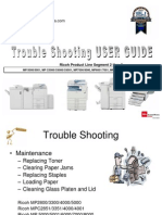 Basic Operator Troubleshooting and Maintenance Guide for Ricoh Copiers
