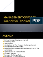 Management of Forex Exchange Transactions_1