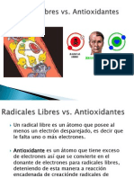 Radicales Libres vs Antioxidantes