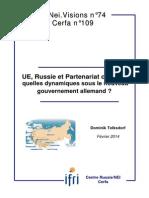 Dominik TOLKSDORF, UE, Russie et Partenariat oriental