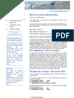 Bulletin interne #3 - (Décembre 2007)