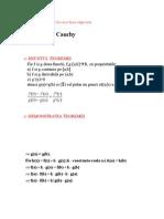 Teorema Lui Cauchi