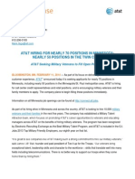 AT&T Hiring for Nearly 70 Positions in Minnesota - February 11, 2014
