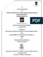 A Survey Report on Kirloskar oil engine ltd. By