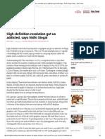 High-Definition Resolution Got Us Addicted, Says Nidhi Singal _ Nidhi Singal, News - India Today