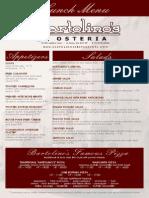 Bartolinos LunchMenu Osteria 14.1.16