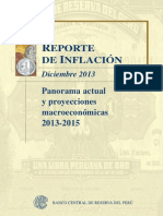 Reporte de Inflacion Diciembre 2013
