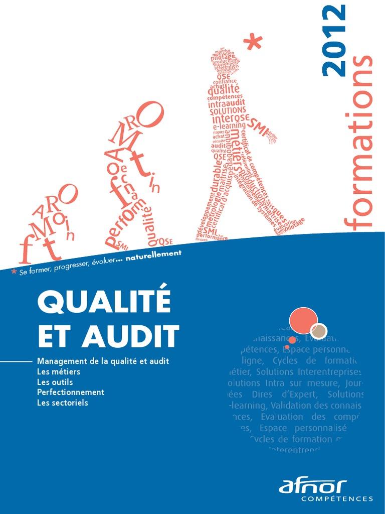 Afnor Audit Qualite Formations | Audit | Management de la ...