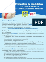 Declaration Candidature