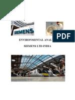 Environmental Analysis Siemens Ltd-India