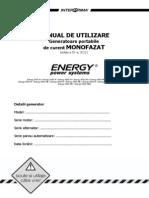 Carte Tehnica Generator Curent Energy