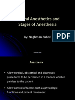 GeneralAnesthetics and Stages of Anesthesia