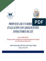 Propuesta Evaluacion Modelo Evaluacion Adolescentes Infractores
