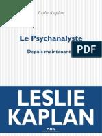 Le Psychanalyste