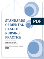 Standards of Psychiatric Mental health nursing