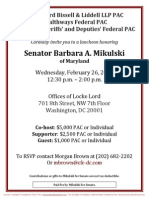 Luncheon for Barbara Mikulski