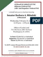 Luncheon for Barbara Mikulski