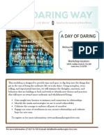 Daring Way March 1st Flyer