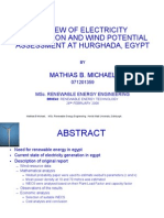 Renewable Energy. Wind Resource Assessment
