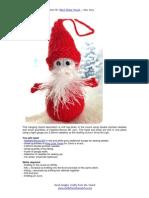 Googly Santa Decoration