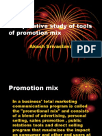 Comparative Study of Tools of Promotion Mix