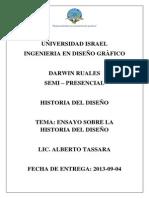 Darwin Ruales - Ensayo historia del diseño