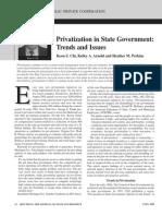 Privatization in State Government